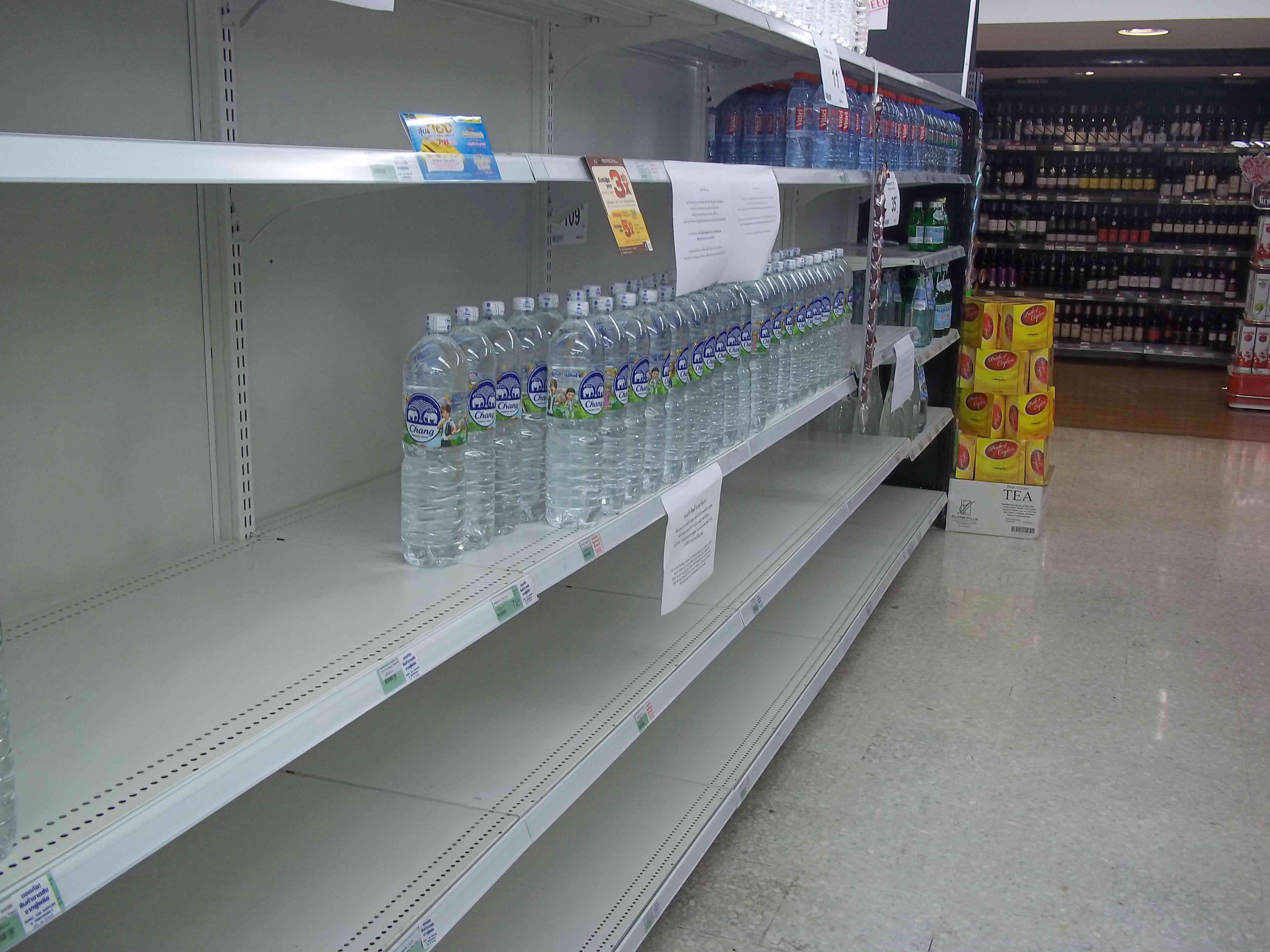Prime Bangkok Floods Lead To Empty Supermarket Shelves Home Remodeling Inspirations Genioncuboardxyz
