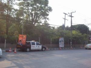 Police guard secret U.S. facility in Nimmnhaemin Rd