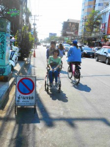 Nimman shared no car lane